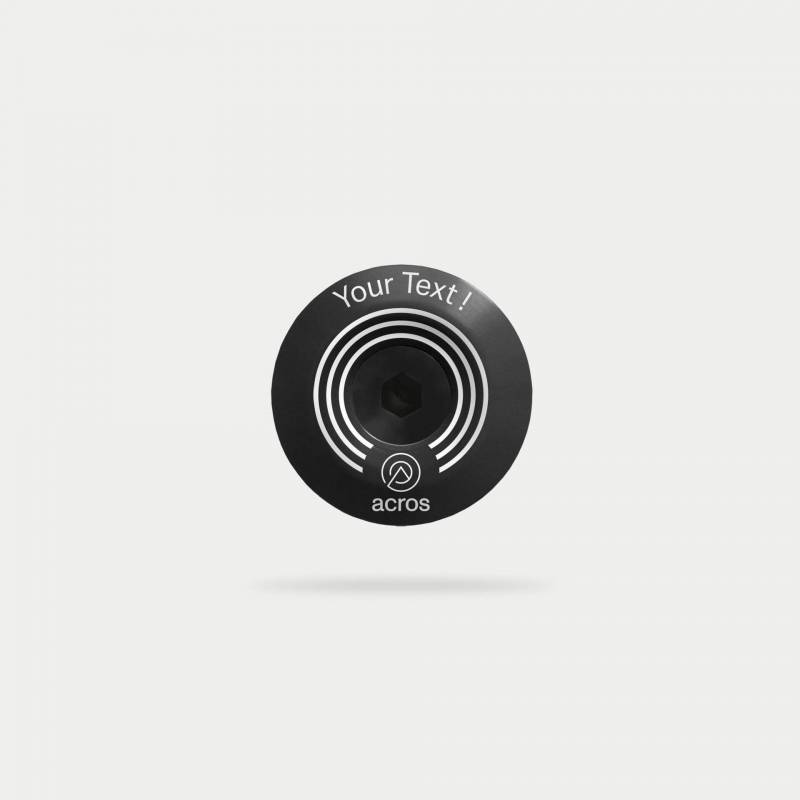 circles-topcap,schwarz, mit individuellem Text