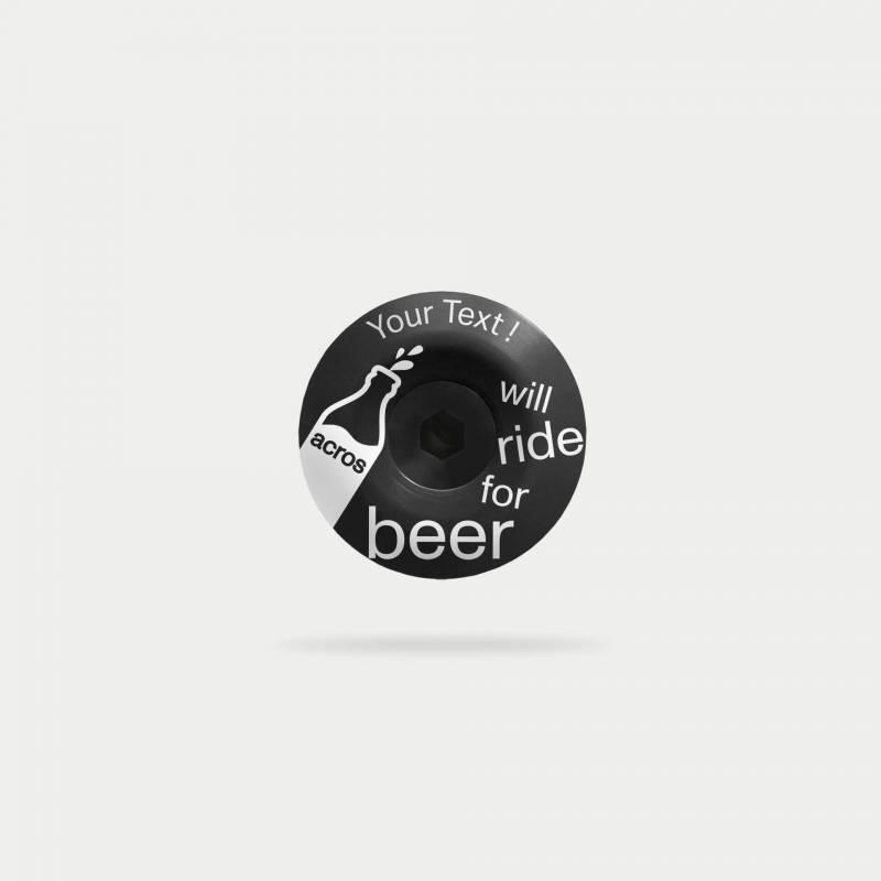 beer-topcap, schwarz, mit text