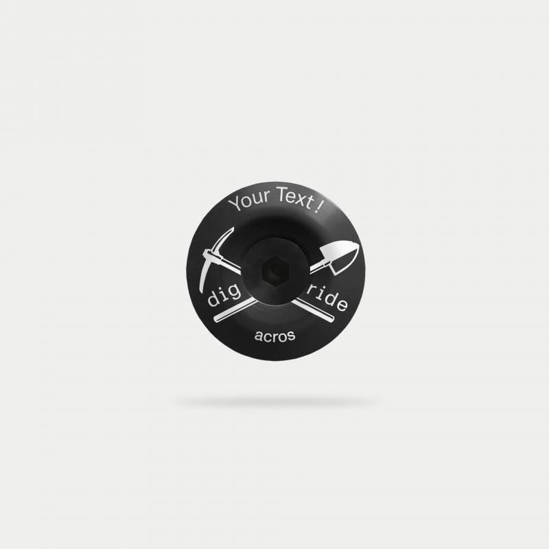 digride-topcap, schwarz, mit individuellem Text
